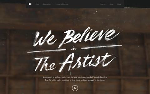 Build a free online store, sell in-person, and run a creative business with Big Cartel