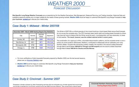 Screenshot of Case Studies Page weather2000.com - Weather2000.com - Site-Specific Long Range Weather Forecast [Example] - captured Oct. 26, 2014