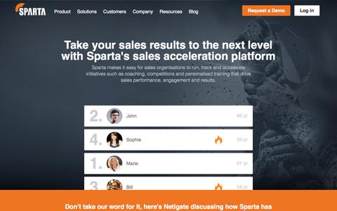 Sparta - Take your sales results to the next level