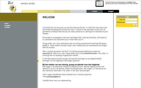 Screenshot of Login Page ziut.nl - Ziut - Klantenportaal - captured Aug. 12, 2016