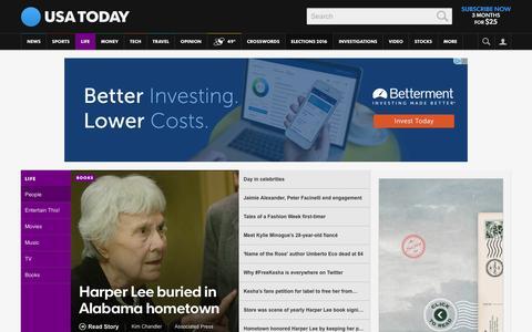 Screenshot of Team Page usatoday.com - Celebrity Photos, Videos and Interviews - USATODAY.com - captured Feb. 21, 2016