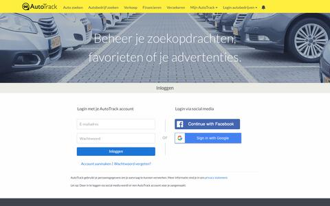 Screenshot of Login Page autotrack.nl - AutoTrack - Log in - captured June 30, 2018