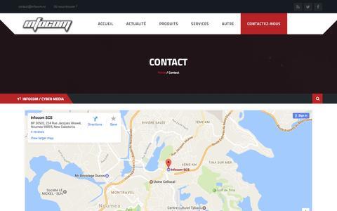 Screenshot of Contact Page infocom.nc - Contact - INFOCOM NC - captured Dec. 12, 2016