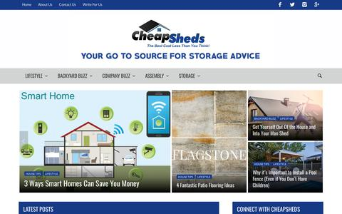 Screenshot of Blog cheapsheds.com.au - Homepage - Cheap Sheds Blog - captured July 28, 2017