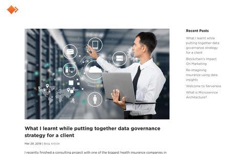 Screenshot of Blog orioninc.com - Blog | Orion Business Innovation - captured April 20, 2018