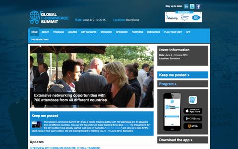 Screenshot of Home Page e-commercesummit.com - Global E-commerce Summit - Home - captured Sept. 23, 2014