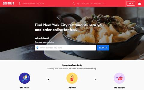 NYC Food Delivery | NYC Restaurant Take Out | Grubhub