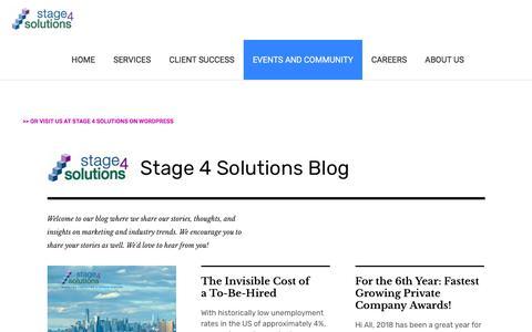 Screenshot of Blog stage4solutions.com - Events :: Blog - captured Jan. 22, 2020
