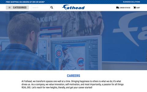 Screenshot of Jobs Page fathead.com - Fathead Official Site - captured Aug. 3, 2018