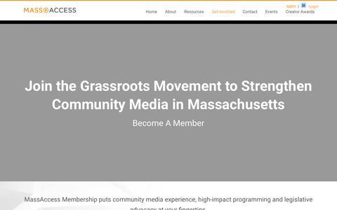 Screenshot of Signup Page massaccess.org - Become a Member - Mass Access - captured Oct. 17, 2017
