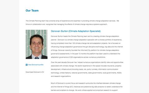 Screenshot of Team Page climateplanning.com.au - Our Team — Climate Planning - captured July 19, 2018