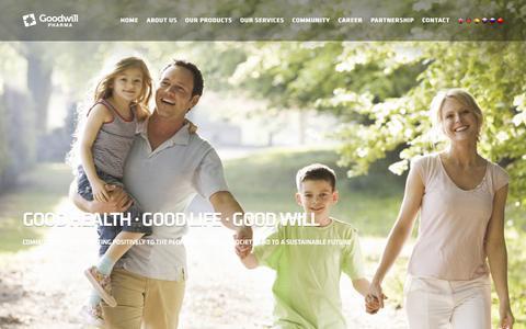Screenshot of Contact Page goodwillpharma.com - Contact - captured Aug. 31, 2017