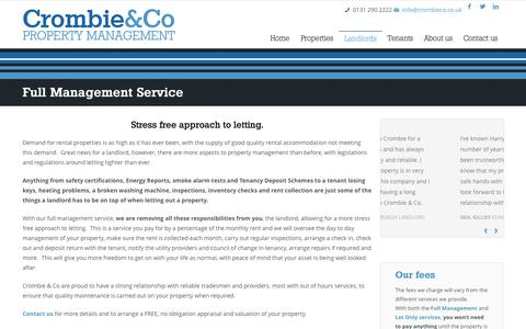 Screenshot of Services Page crombieco.co.uk - Full Management Service  »  Crombie & Co - captured Oct. 3, 2014