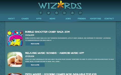 Screenshot of Press Page wizards.rs - Wizards Time D.O.O. Nis   News - captured Oct. 7, 2014