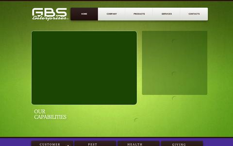 Screenshot of Services Page gbsent.com - GBS Solutions - captured Oct. 1, 2014