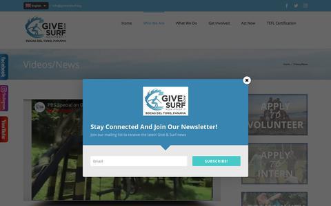Screenshot of Press Page giveandsurf.org - Volunteer Panama News  | Give and Surf Non-Profit • Bocas del Toro, Panama - captured July 19, 2018