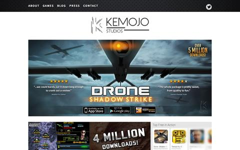 Screenshot of Home Page kemojo.com - Kemojo Studios - Video Game Studio Extraordinaire! Kemojo Studios - captured Sept. 12, 2015