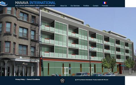 Screenshot of Home Page manava.us - MANAVA INTERNATIONAL - captured Feb. 4, 2016