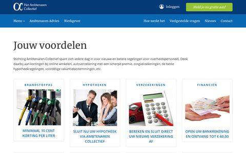 Screenshot of Menu Page ambtenarencollectief.nl - Menu             -             Het Ambtenaren Collectief - captured Sept. 28, 2018