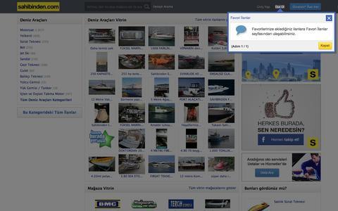 Satılık Deniz Aracı  İlanları, Sıfır ve İkinci El  Fiyatları sahibinden.com'da