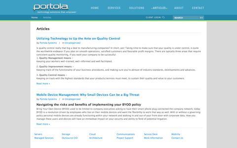 Screenshot of Blog portolasystems.net captured Oct. 2, 2014