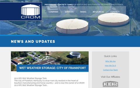 Screenshot of Blog cromcorp.com - News And Updates   CROM - captured Feb. 15, 2016