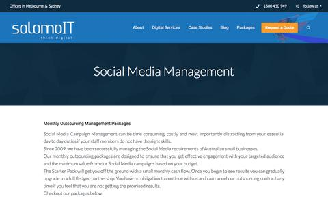 Screenshot of Team Page solomoit.com.au - Social Media Management in Melbourne and Sydney, Australia - captured Oct. 25, 2016