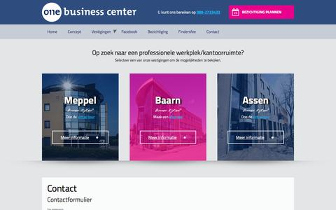 Screenshot of Contact Page 1businesscenter.nl - Contact - captured Dec. 11, 2016