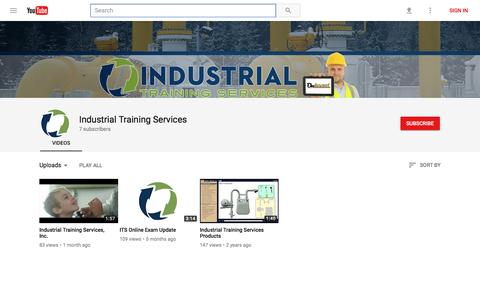 Industrial Training Services - YouTube