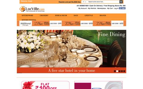 Screenshot of Home Page locville.com - Locville Online Shopping - Bags, Kitchenware, Phone Cases, Furnishings, Decor, Furniture - captured Sept. 19, 2014