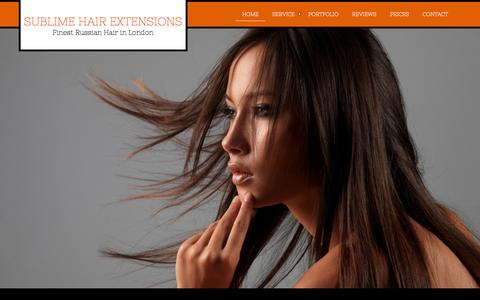 Screenshot of Home Page sublimehairextensions.co.uk - Micro Ring Hair Extensions London - captured Oct. 7, 2014