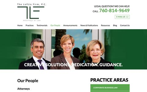 Screenshot of Team Page loftinfirm.com - Our People | The Loftin Firm, P.C. | - captured Oct. 20, 2018