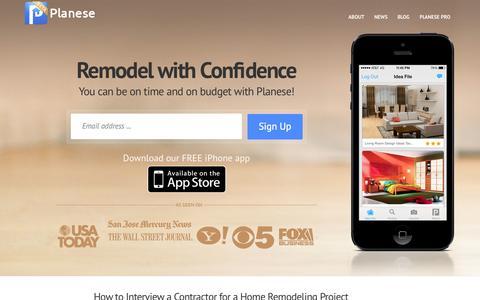 Screenshot of Home Page planese.com - Home - - captured Oct. 2, 2014