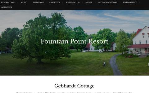 Gebhardt Cottage – Fountain Point Resort
