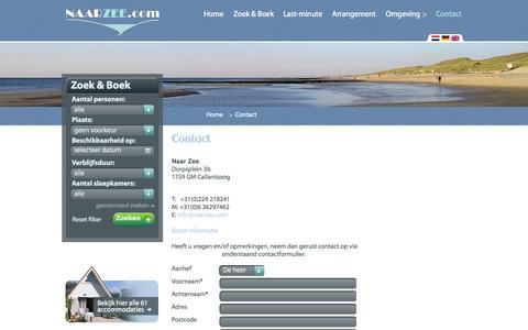 Screenshot of Contact Page naarzee.com - contact - naarzee.com - captured Oct. 27, 2014