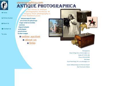 Screenshot of Home Page Menu Page stereographica.com - Antique Stereoscope for Sale, Stereoscopes for Sale, Antique Photographica - captured June 30, 2018
