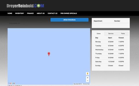 Screenshot of Hours Page dreyerreinbold.com captured Feb. 9, 2016