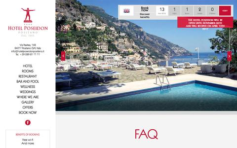Screenshot of FAQ Page hotelposeidonpositano.it - Hotel Poseidon - Dog Friendly Hotel Positano - Faq - captured Nov. 13, 2016