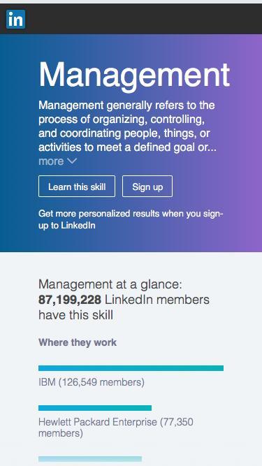 Screenshot of Team Page  linkedin.com - Management | LinkedIn