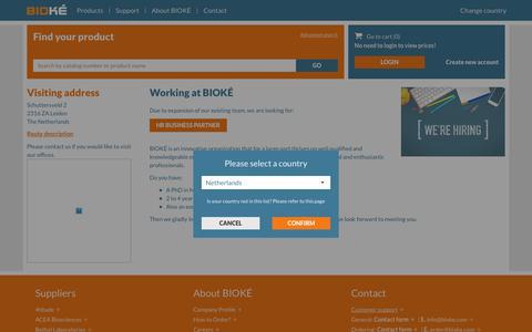 Screenshot of Jobs Page bioke.com - Working at BIOKÉ - BIOKÉ - captured July 31, 2018