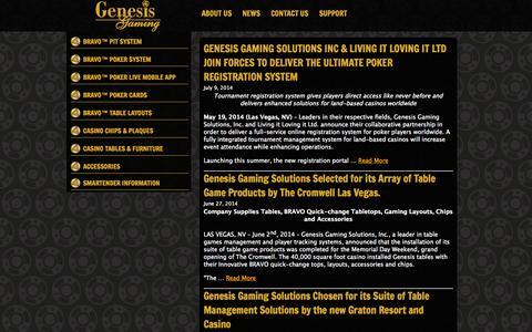 Screenshot of Press Page genesisgaming.com - Genesis Gaming   » News - captured Oct. 2, 2014