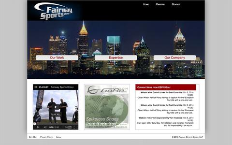 Screenshot of Home Page Site Map Page fairwaysportsgroup.com - Fairway Sports Group - captured Oct. 5, 2014