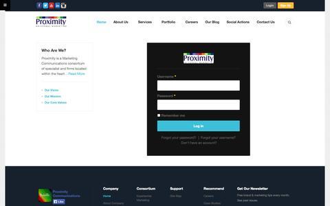 Screenshot of Signup Page proximitynigeria.com - Proximity Communications - captured Sept. 19, 2014