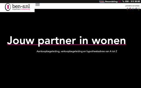 Screenshot of Home Page ben-s.nl - Makelaar Groningen | Ben-S.nl | NVM Makelaar - captured Dec. 19, 2018