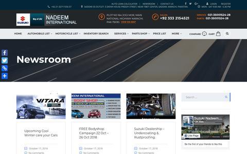 Screenshot of Blog Press Page suzukini.com - Newsroom | Nadeem International - captured Oct. 18, 2018