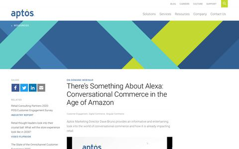 Screenshot of Case Studies Page aptos.com - Something About Alexa: Conversational Commerce in the Age of Amazon - captured Feb. 20, 2020
