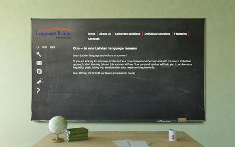 Screenshot of Home Page Press Page languagebridge.lv - Language Bridge - captured Oct. 2, 2014