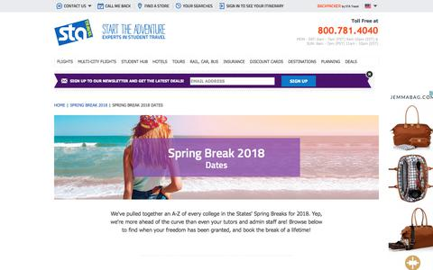 Spring Break 2018 dates | STA Travel