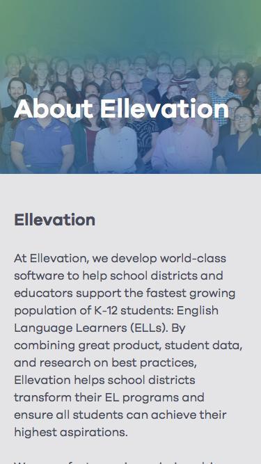 Screenshot of Jobs Page  ellevationeducation.com - About Ellevation | Ellevation Education