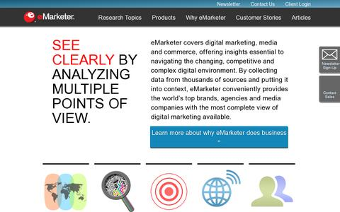 Screenshot of About Page emarketer.com - About Us | eMarketer - captured July 20, 2014